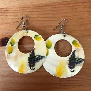 Guatemala BUTTERFLY Earrings